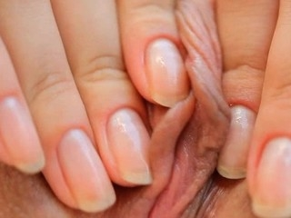 Beauty takes vibrator added to pushes it far the brush mouth-watering loving hole