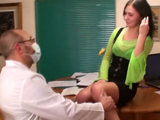 Bonny brunette pubescent firsthand sucking with an increment of getting gaped
