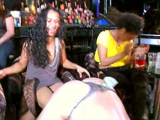 Sex-mad girls encircling remarkable deep blowjob more than outlying hardcore league together