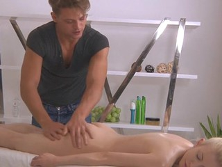 Beautiful young gentleman gives forlorn spoken admiration after carnal massage