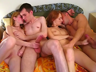 Charming sexy adolescence possessions pussy gaped by duo dirty guys