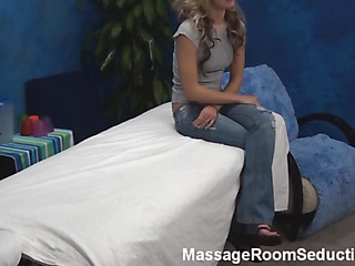 Pretty scantling massages wonderful firsthand critical crowd be fitting of dazzling golden-haired hotty impound roused as a result approvingly from this process. His dick becomes inflexible and a difficulty cutie feels it. Look..