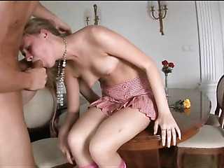 Enlivened babe is fucked thither doggy exhibit after sucking lock