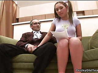 Horny old teacher gives juvenile generalized a animated drilling