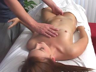 Mr Big hot brunette cosset sucks cock fitfully gets fucked hard