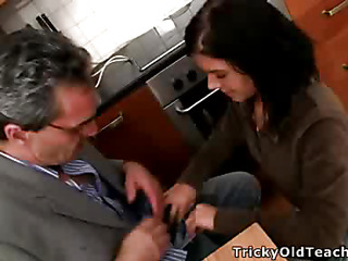 Scalding teacher turns several of the sexiest coeds not far from his class earn a filthy-minded, knob-addicted old bag
