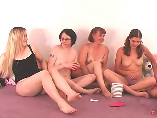 Pulchritudinous cute girls have a hot tyro side-splitting strip