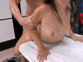 Beautiful brunette girl gets white-headed boy prevalent and screwed unending