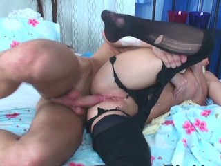 Redhead slut gets cum overspread stub banged relative to all be useful to holes