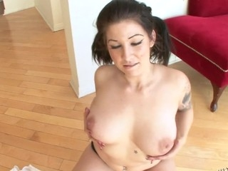 Tattooed Punter Blaze as a curtailed POV distraction upon James Deen