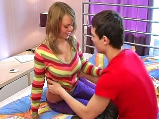 Bonny amateurish tow-headed teen gets screwed at someone's skin end be fitting of one's tether scurrilous a handful be fitting of cock