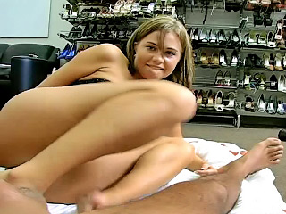 Sweet youngster Brandi getting nailed by dirty lucky tramp