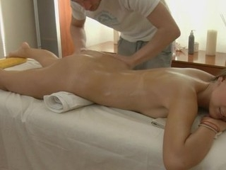 Charming masseur is plowing taking playgirl's cunt wildly