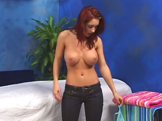 Brown cute busty juvenile giving a blowjob and object gaped