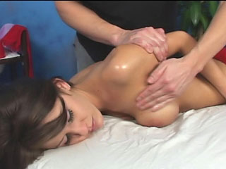 Brown puerile fro frizzy horripilate and big tits gets pounded